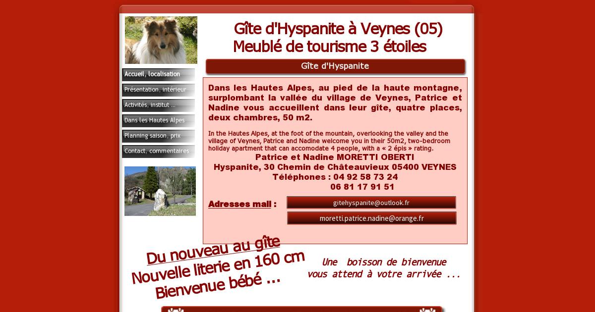 G te hautes alpes g te 05 meuble de tourisme location for Meuble 05 etoiles
